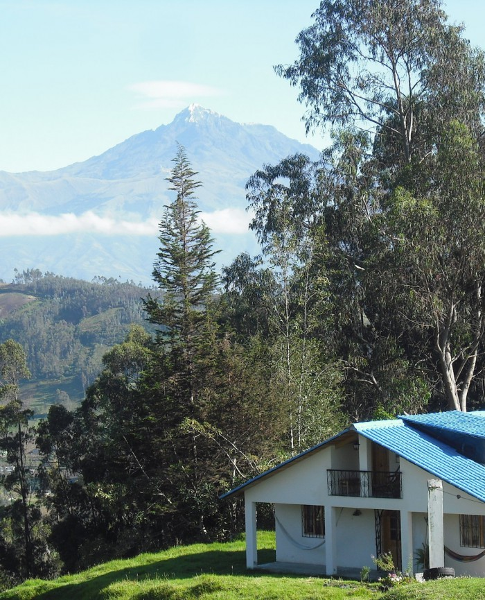 Casa Cotacachi (4 double rooms) with Volcano Cotacachi in the background