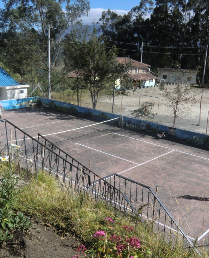 Tennis court at Hosteria Rose Cottage - use is  free of charge