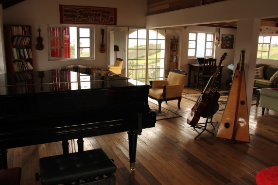 new library with piano