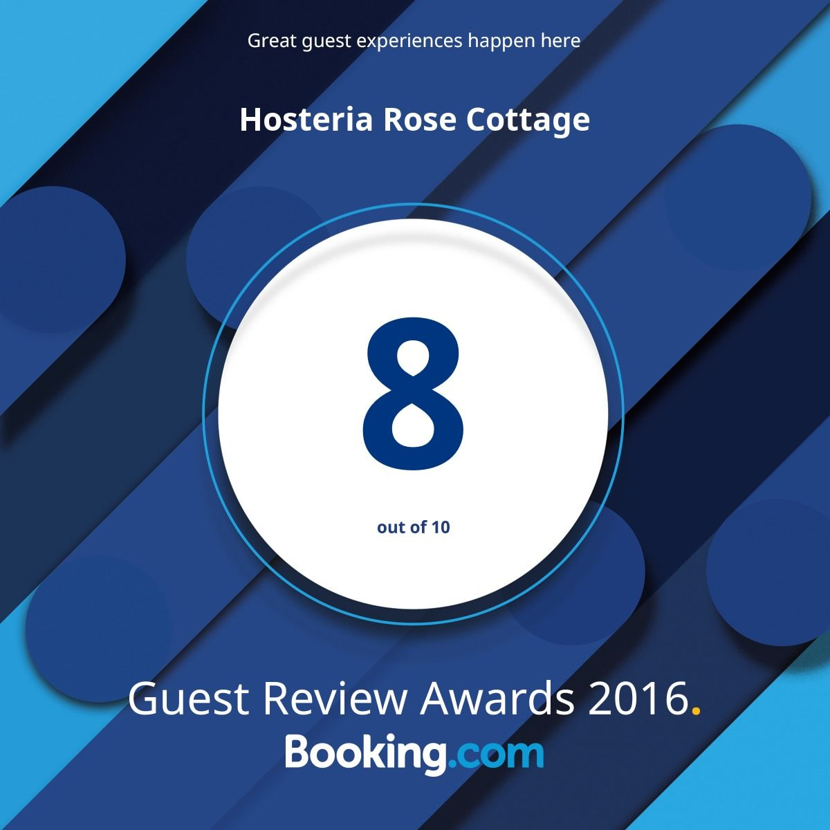 booking.com - 2016 Guest review award